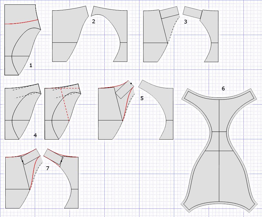выкройка для шитья трусиков купальника