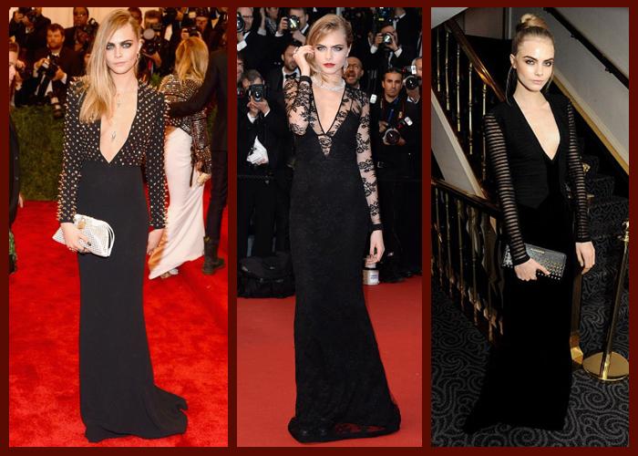 длинные черные платья из кружева
