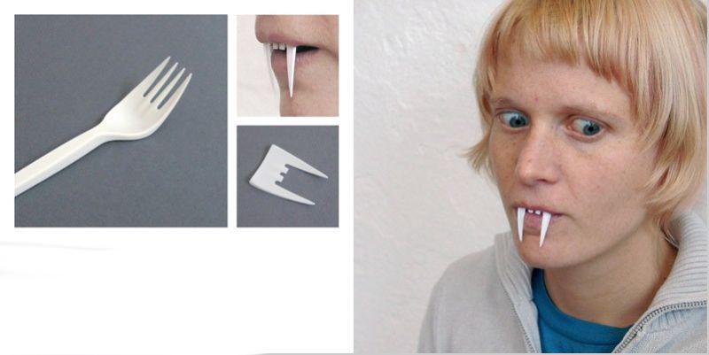 Как сделать клыки вампира дома своими руками