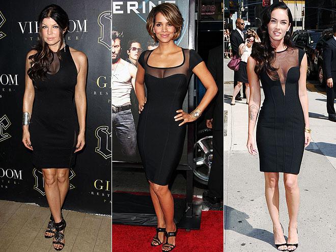 короткие черные платья звезд