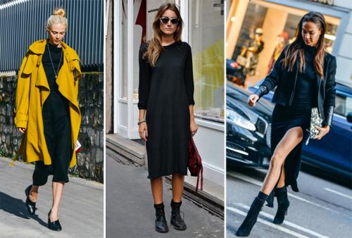 черное платье на каждый день