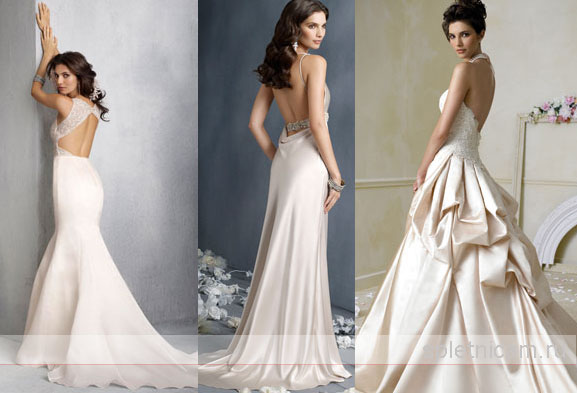 Коктейльные платья с открытой спиной фото, описания, цены