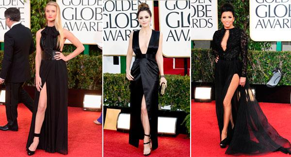 знаменитости в черных платьях